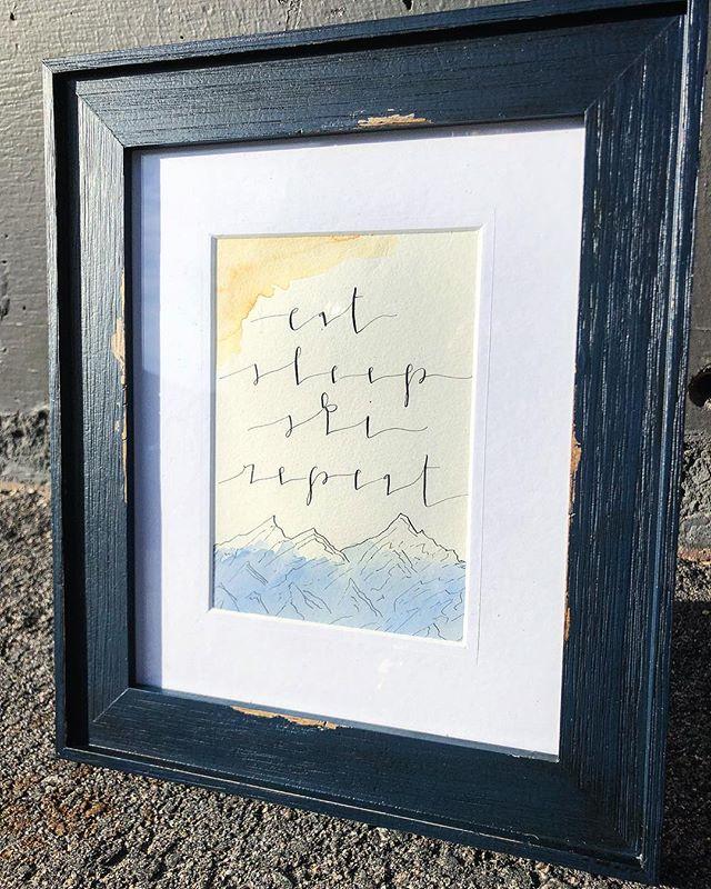 living in Colorado makes custom work much more fun!! #imagination #magic #calligrapher #coloradohandmade #watercolor #handmade #makersgonnamake 💜👏🏻✨🎄🌙👑🔮