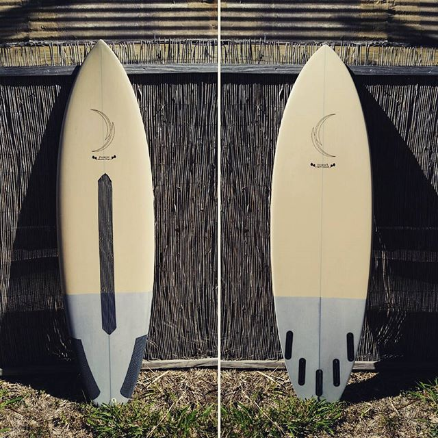 @pipeline86 's personal board. Shaped by @tomparrishshapes , glassed by @jbirdglassing  sanded by us.  #madeonmaui #customsurfboards #handmade