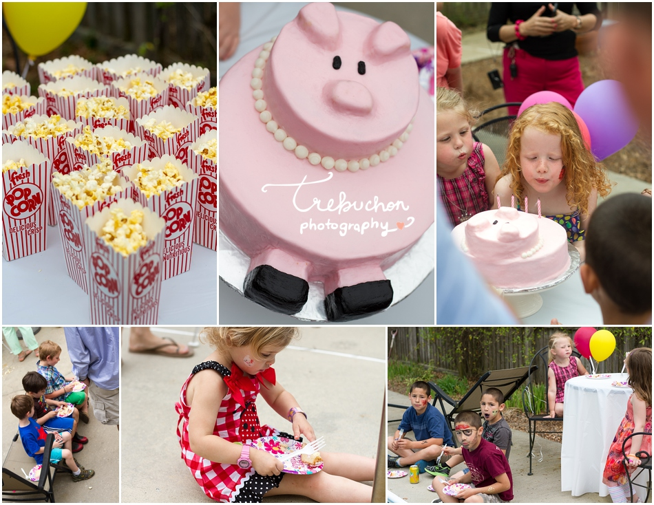 How AWESOME is that cake??? My friend, Megan, created this adorable piggy cake! (Lily is a little obsessed with pigs)