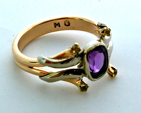 commission ring in white and yellow gold with amythest.jpg