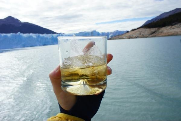 Glacier ice whiskey. Yum