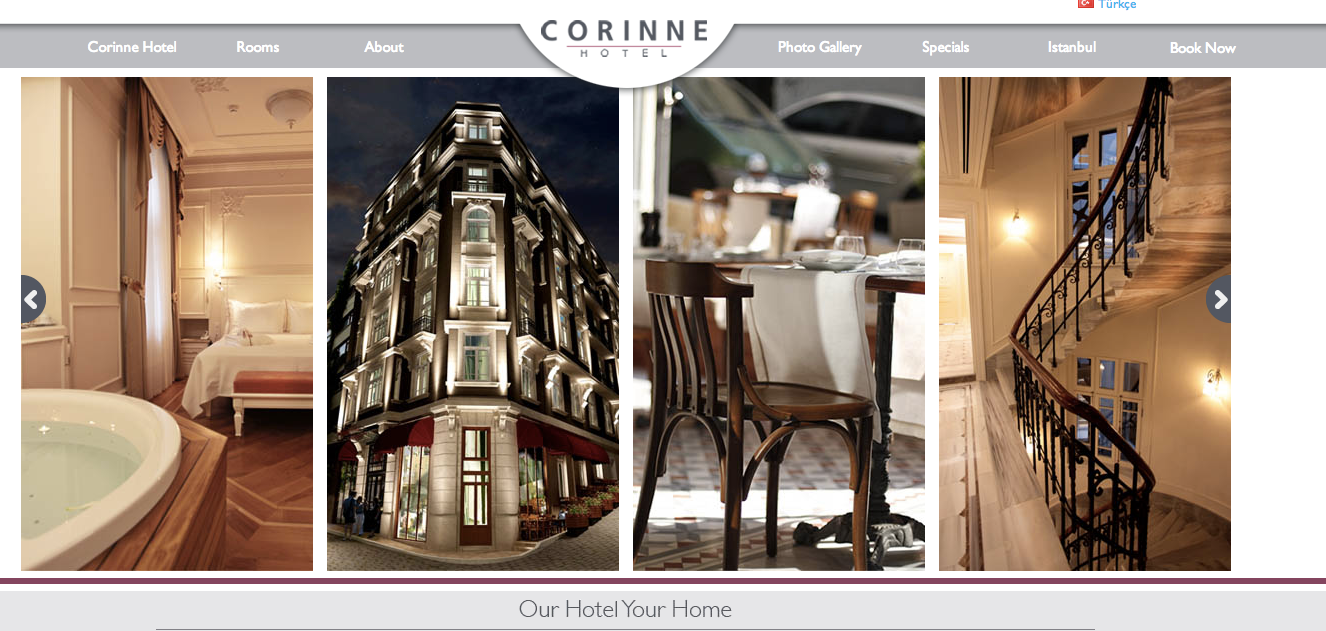 The Corinne Hotel in Istanbul.