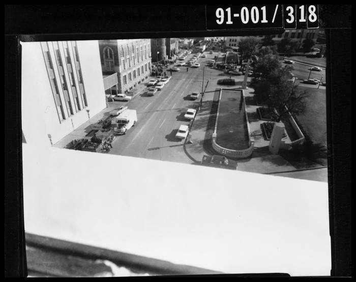 Photo 57- Sixth Floor, sniper's nest view of Houston Street.jpg