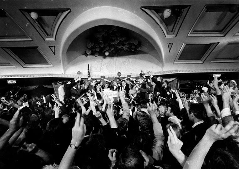 Photo 12- Robert Kennedy's primary victory in the Hotel Ballroom.jpg