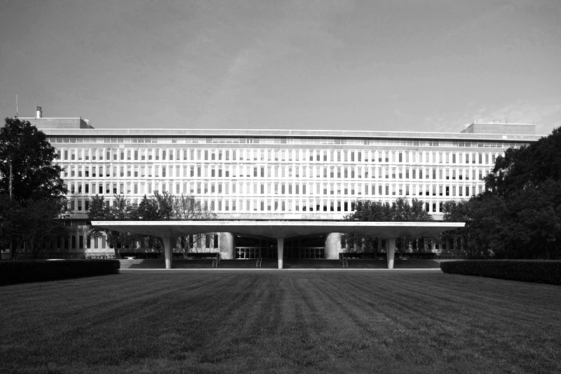 The Original Central Intelligence Agency Headquarters Building in Langley on the virginia side of the Potomac river was FINISHED in 1962