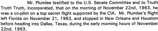 A portion of Bob Vernon's Speech presented to Assassination Records Review Board members