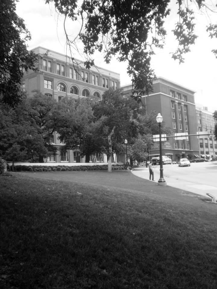 Photo 42- Eastern view of Dealey Plaza B&W.jpg