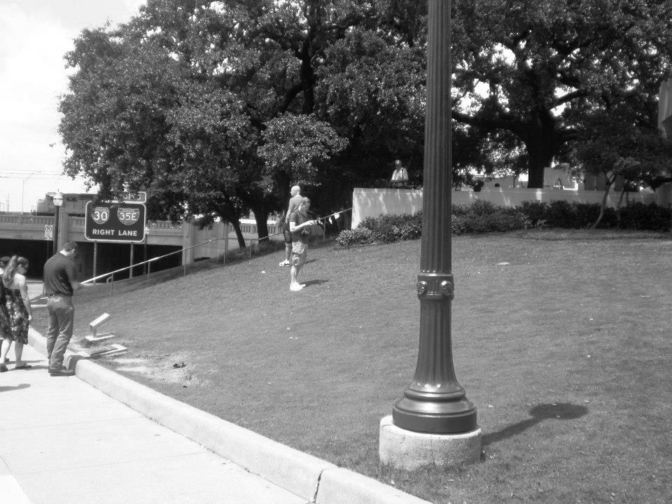 Photo 38- Modern view of the Grassy Knoll area 2 B&W.jpg