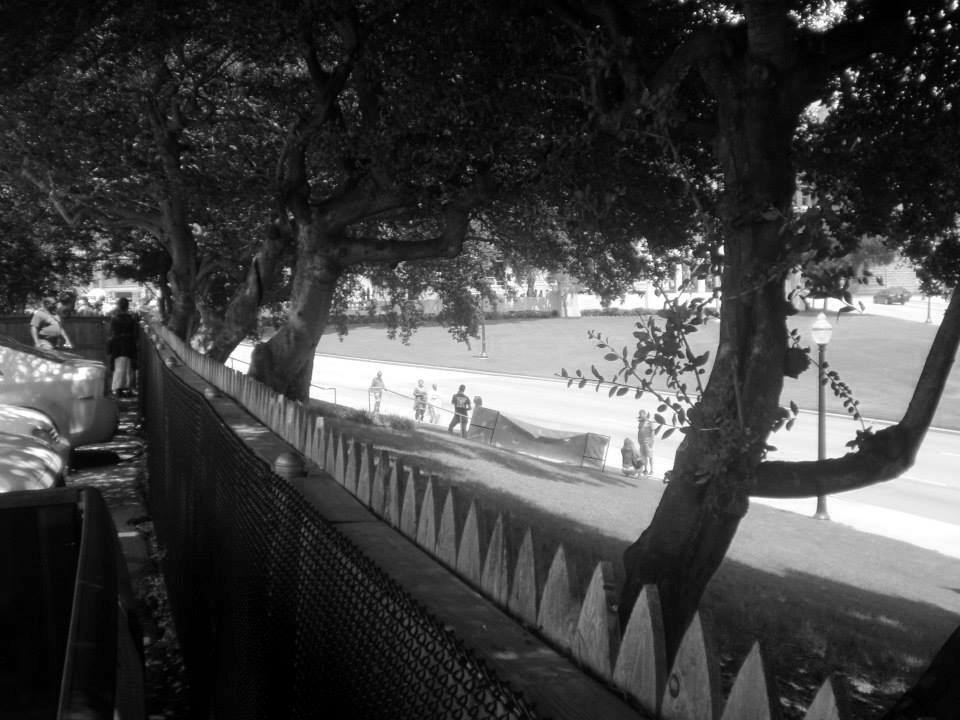 Photo 30- View of Elm St. behind the western end of the picket fence 2 B&W.jpg