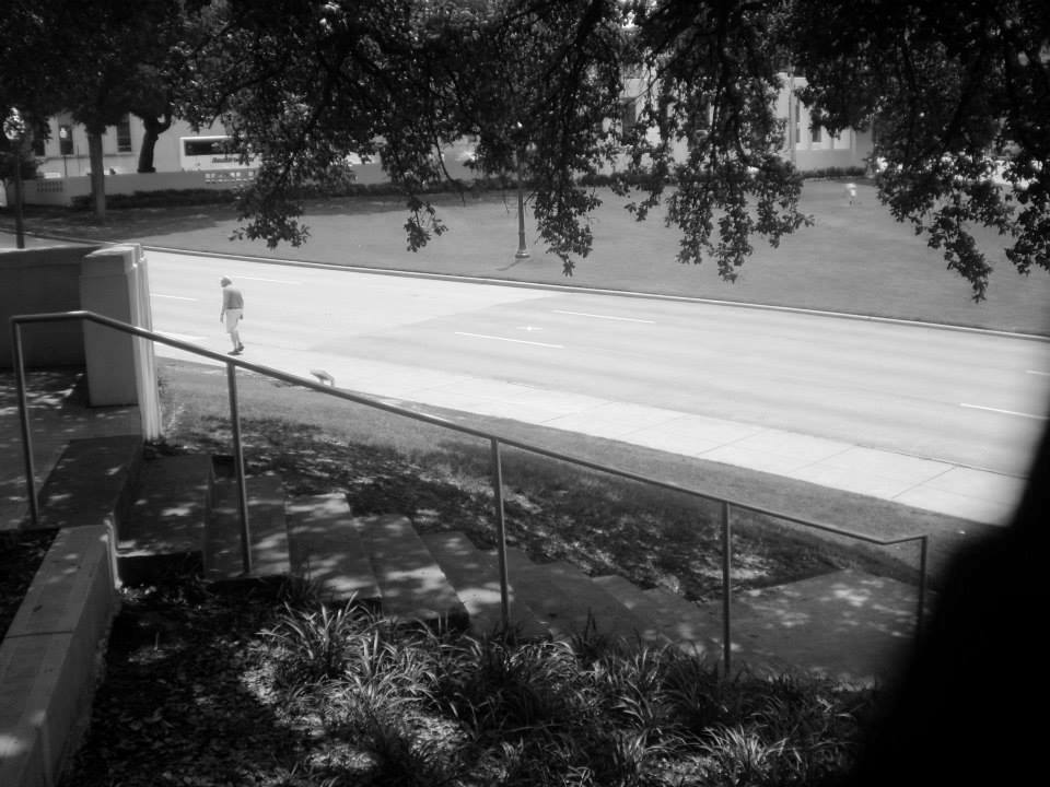 Photo 28- Elm street from directly behind the eastern wall of the picket fence B&W.jpg
