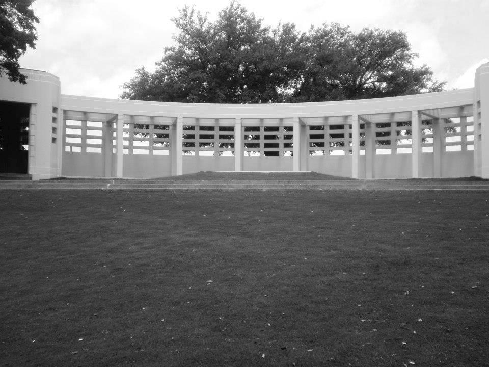 Photo 21- Bryan pergola northern view from Elm Street B&W.jpg