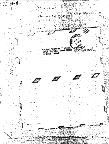THE LETTER WAS RECEIVEd following Oswald's capture by the Dallas Police in November 1963