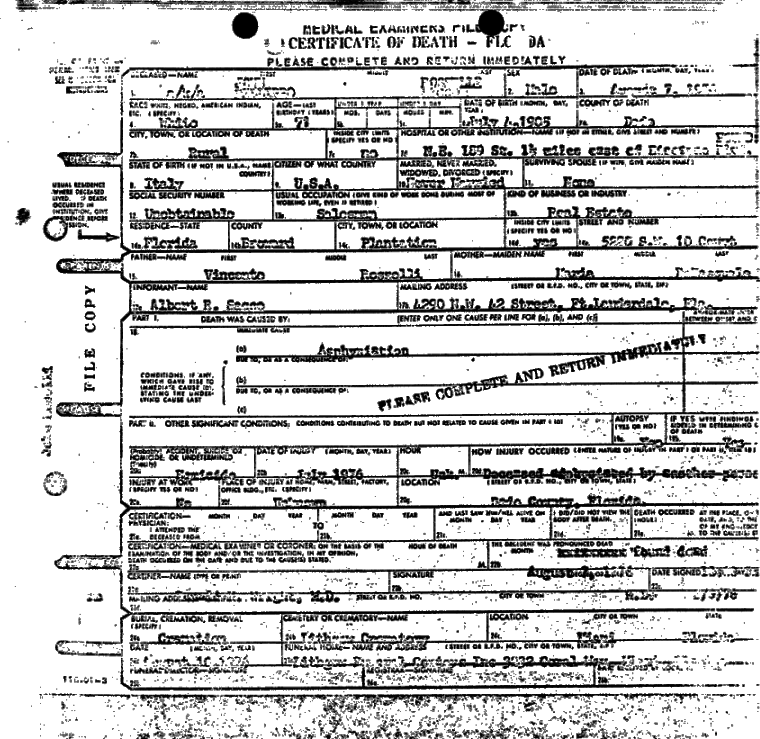 Death Certificate of Johnny Rosselli.png