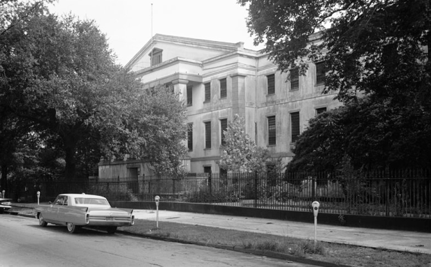 view from the Street of the New Orleans Mint's Main Facade on Espalande Avenue During the Summer of 1963