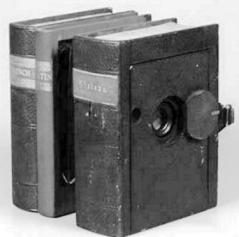 False books used to conceal a spy camera
