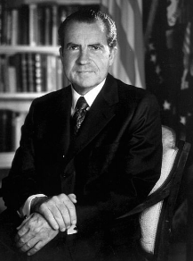 U.S. President Richard milhous Nixon