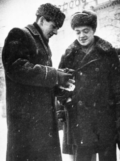 Oswald in Russia with Pavel GolovaCHEV