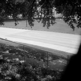 View of Elm Street from the Grassy Knoll Area