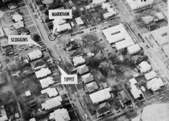 Aerial View of J.D. Tippit's Murder Scene in the official Files