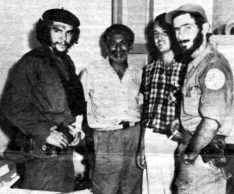 Cuban revolutionary leader Che Guevara is pictured here with Eloy Gutierrez Menoyo