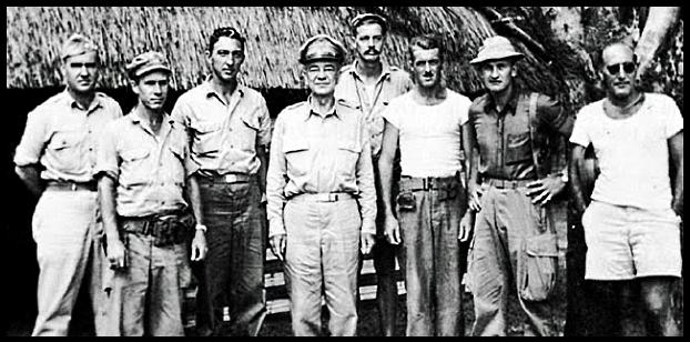General Daniel SUltan & Members of Detachment 101 in a Burmese Village