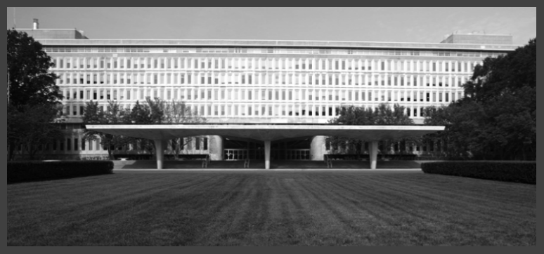 The conceptual designers of the United Nations building developed the original CIA Headquarters in the early 1950s and Director of Central Intelligence Allen Dulles reportedly conceived it to be a campus style environment