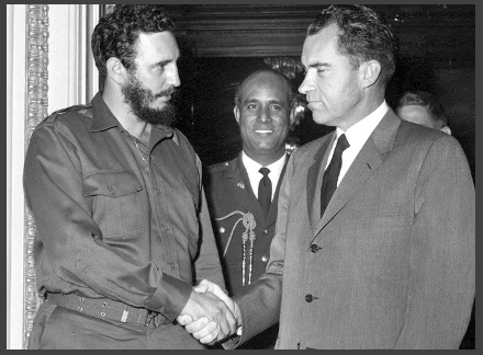 """Richard Nixon and Fidel Castro """"NEGOTIATED"""" in 1959"""