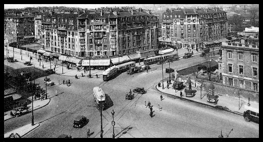 A panorama view of Porte CLIGnanCOURT located within Northern Paris during the 1930s