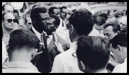 PM Patrice Lumumba Speaks at A Press Conference During the Congo Crisis