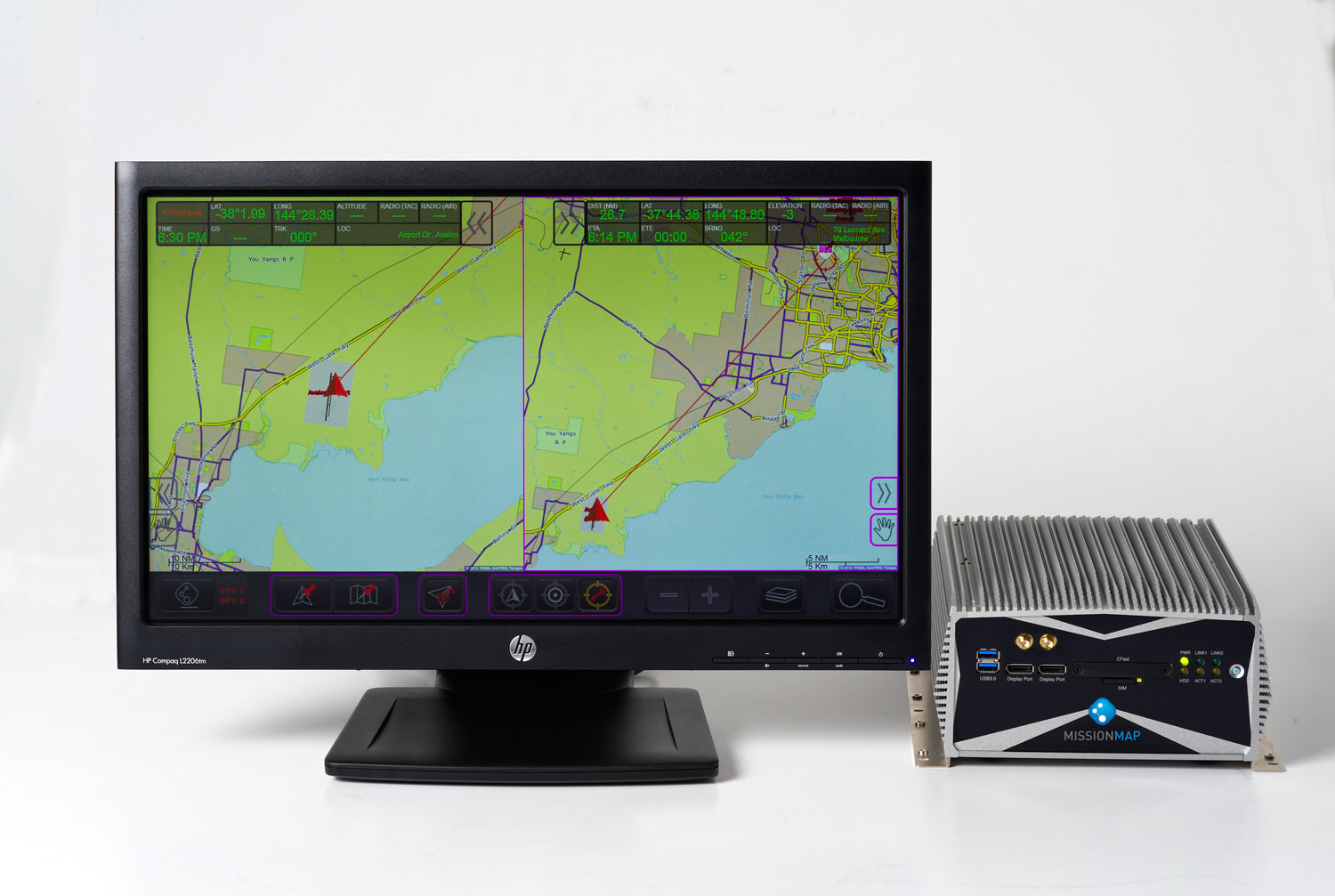 MISSIONMAP Computer & Touchscreen Monitor