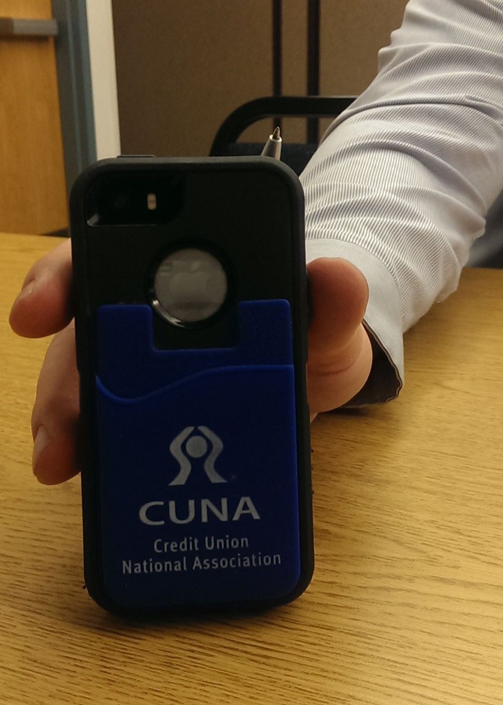 Check out this sweet CUNA #swag attendee Paul had for his phone!