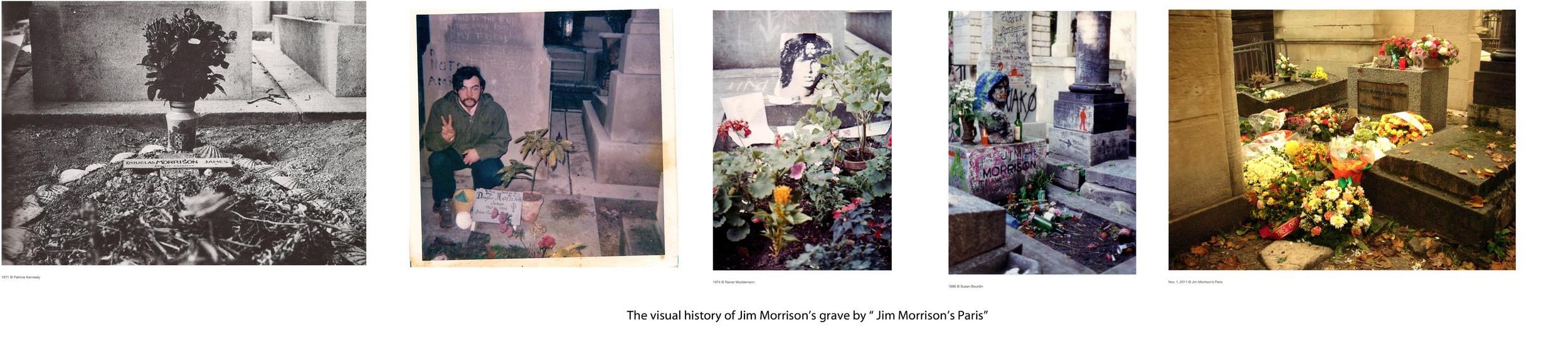"© The visual history of Jim Morrison's grave / ""Jim Morrison's Paris"""