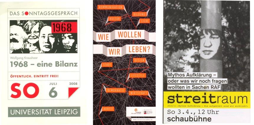 Plakate und Flyer zur Vorträge