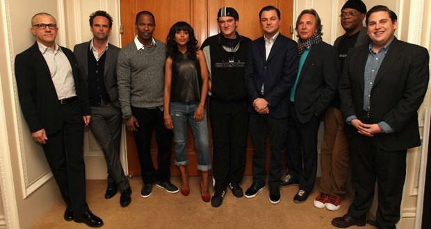 The main cast ofDjango Unchained ft. Quentin Tarantino