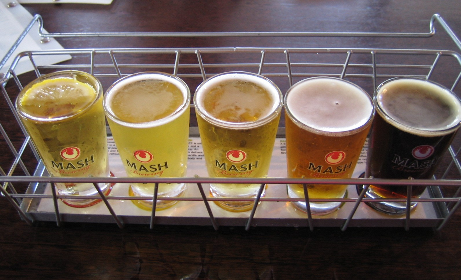 The full range of beers usually available