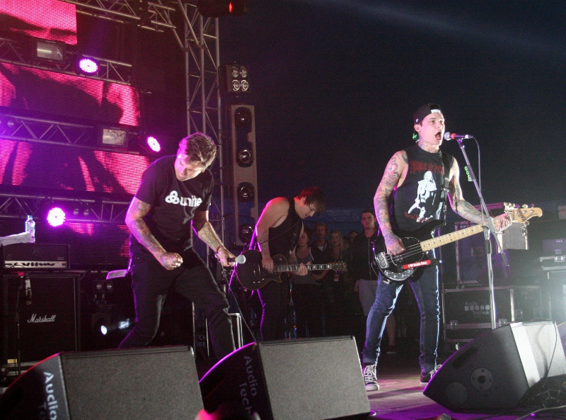 Token metal(core) band The Amity Affliction raised the temperature in the Moolin Rouge tent
