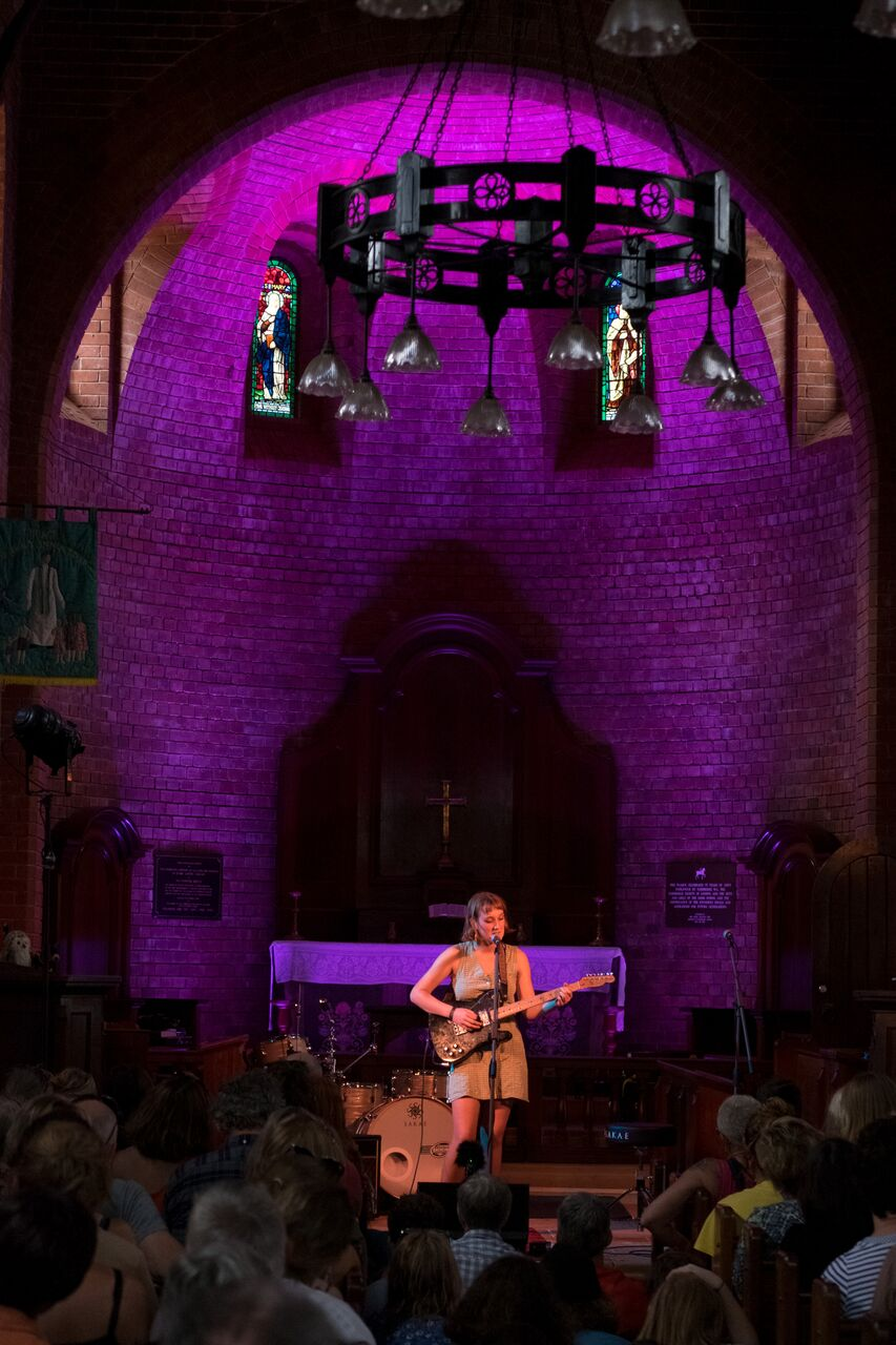 """Photo by Adrian Thompson  Overheard At Fairbridge - """"Carla Geneve is like Neil Young, if he could sing... and she's better at guitar."""""""