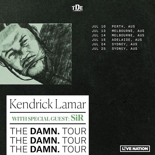 Supports announced for next Tuesday's gig #damn