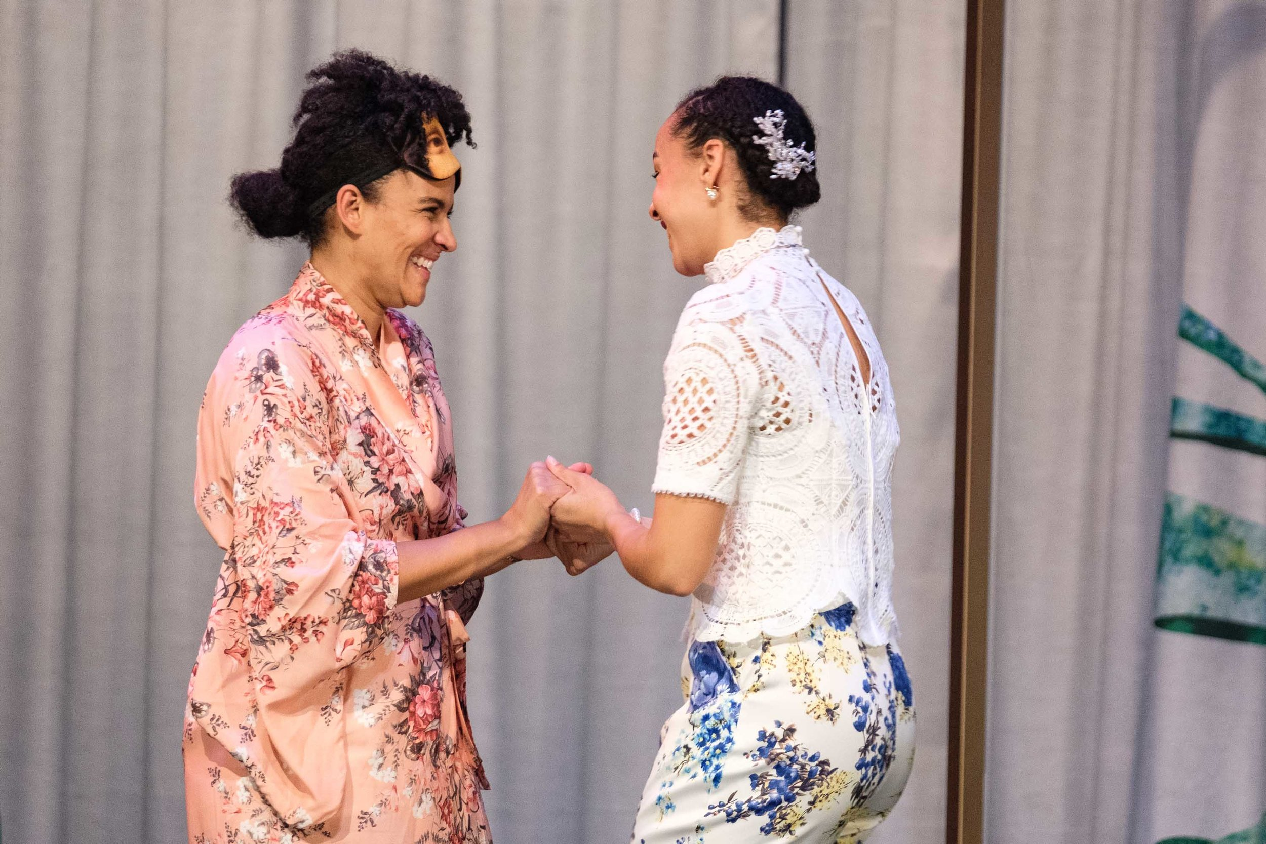 Zindzi Okenyo and Vivienne Awosoga in MUCH ADO ABOUT NOTHING (c) Clare Hawley.jpg