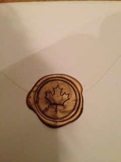 Finished wax seal