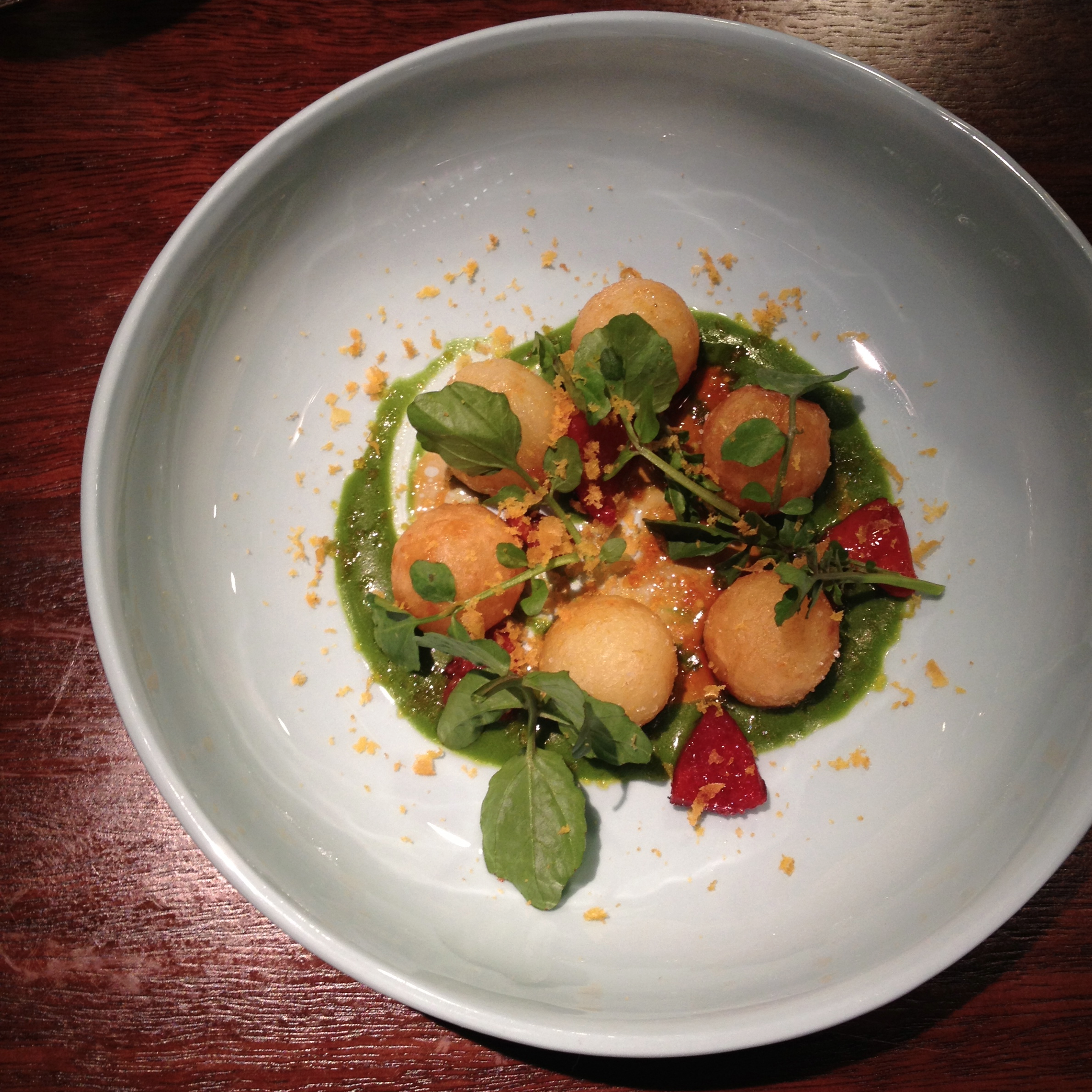potato   watercress, bottarga