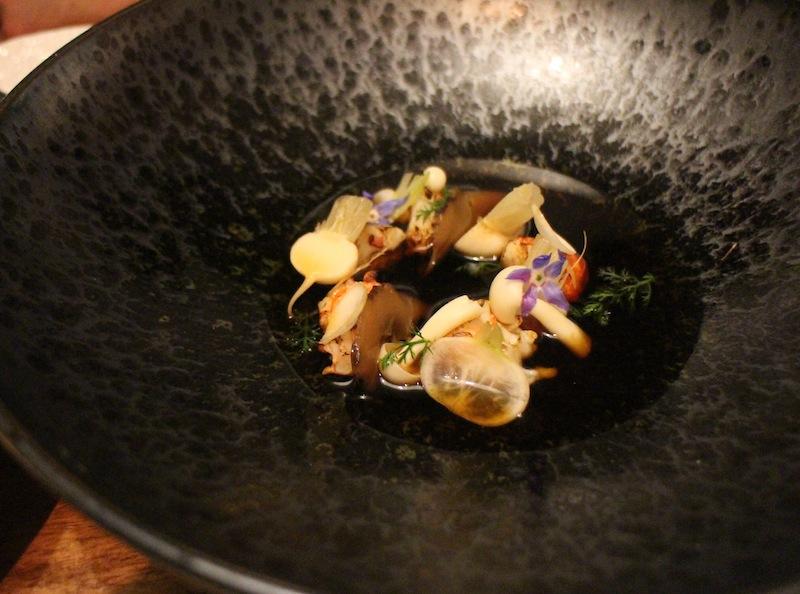Marron. mushroom dashi and turnips