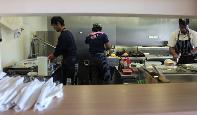 A peek into the kitchen at The Saparan