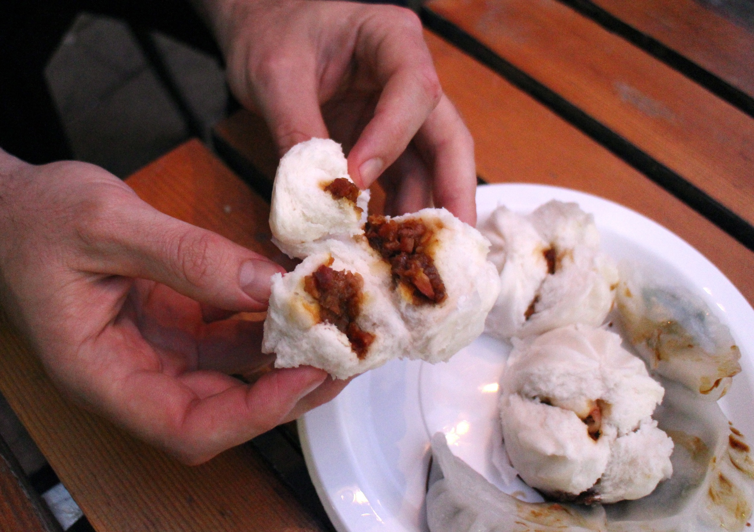 Who: Let's Do Yum Cha   Where: Central Square   What: Steamed BBQ pork bao
