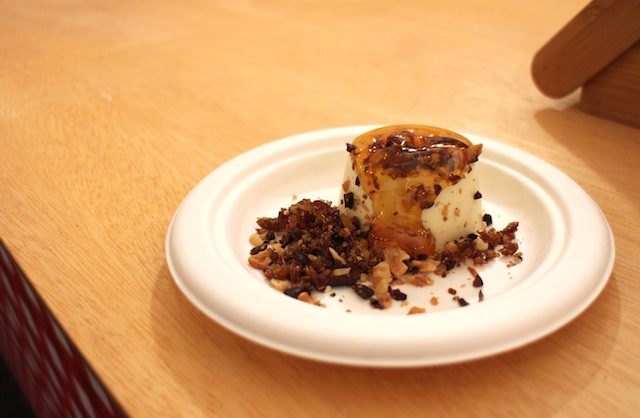 Lalla Rookh - Pannacotta Vera with toasted cocoa and walnut crumble ($10)