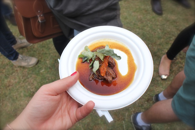 Greenhouse - Black Valley Beef Cheek with malbec braised beef cheek, bush tomato chutney, and saltbush leaves ($10)