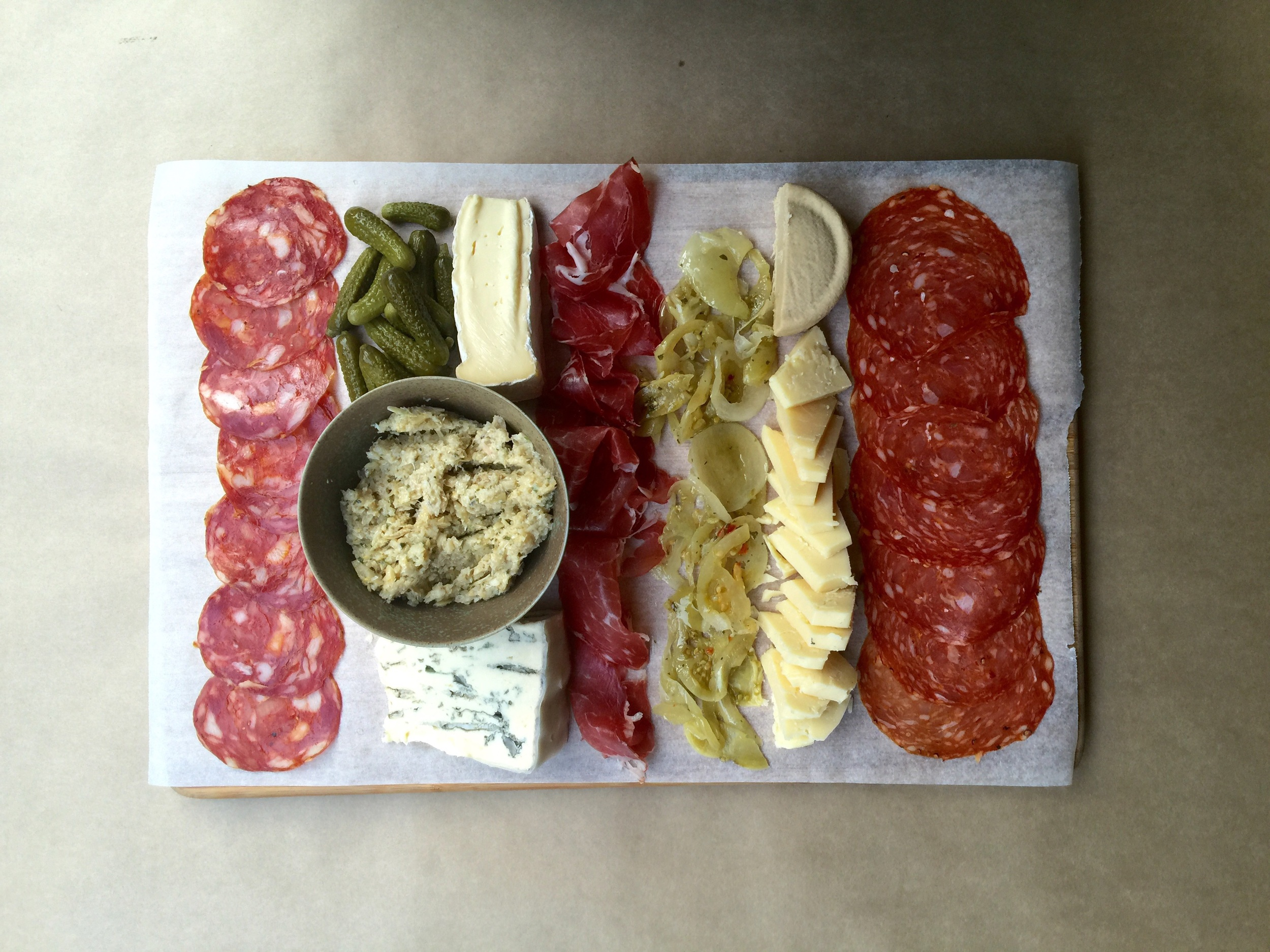 Antipasto with finds from Smoult's