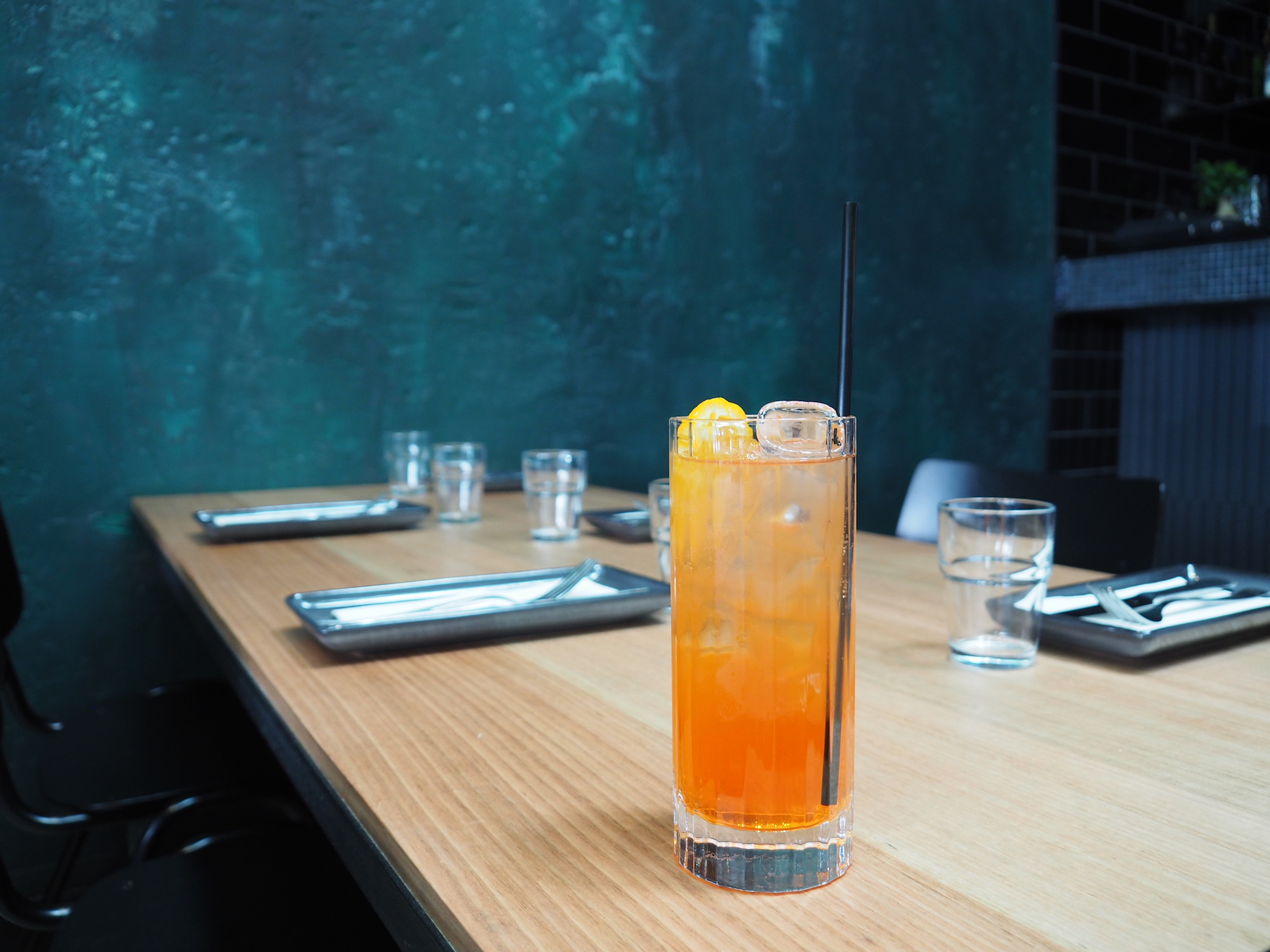aperol, lillet blanc and grapefruit soda