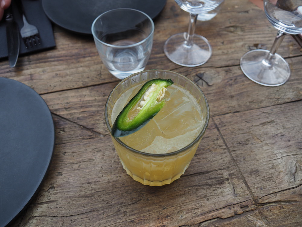 Green chilli Tommy's | tequila, jalapeno, lime, agave, triple sec