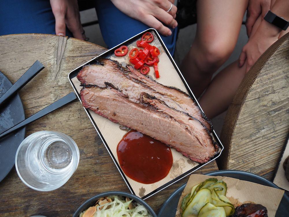 Beef brisket, mustard barbecue